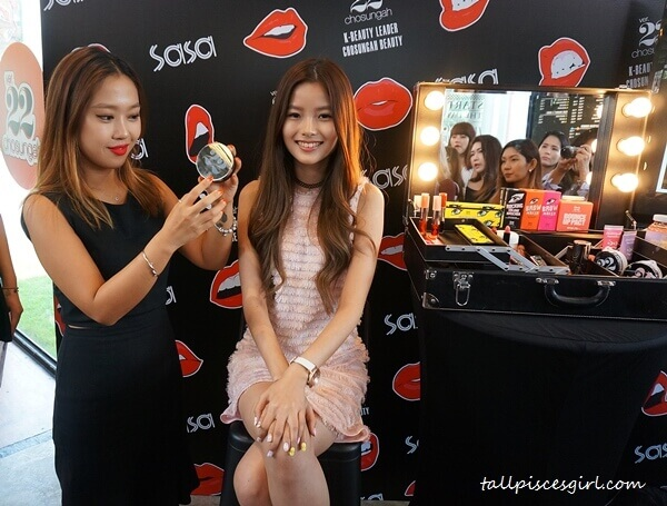 Lizz Chloe a.k.a. 彤彤 of MyFM before makeover using Chosungah22 products