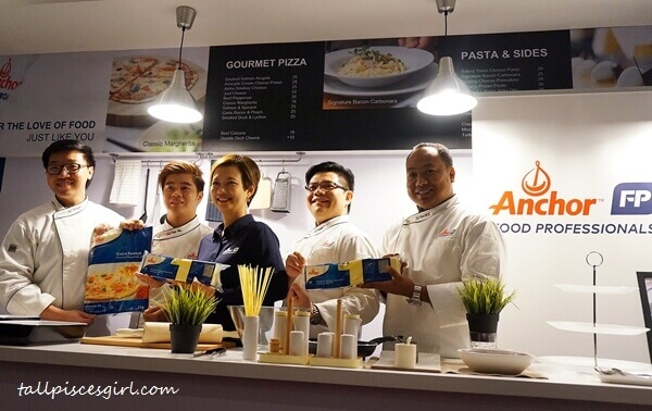 Ms. Linda Tan with Fonterra's in-house chefs