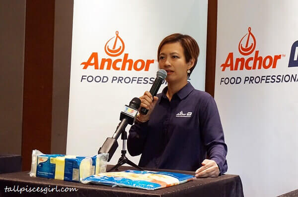 Ms. Linda Tan, Head of Anchor Food Professionals addresses enquiries from the media