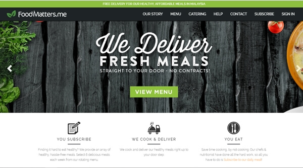 FoodMatters Online Lunch Delivery Site