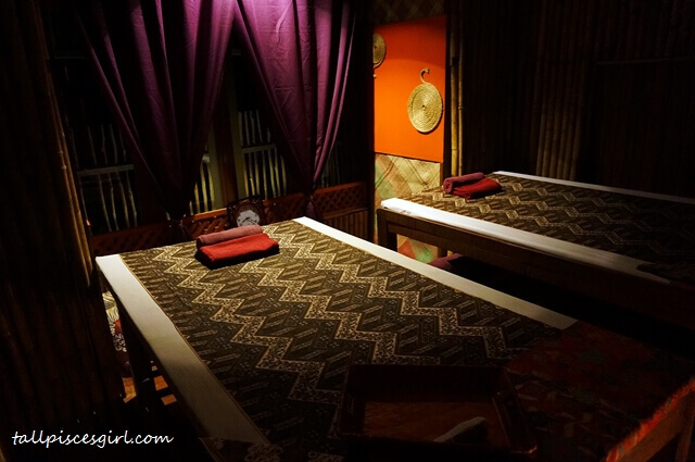 Private rooms for body massage