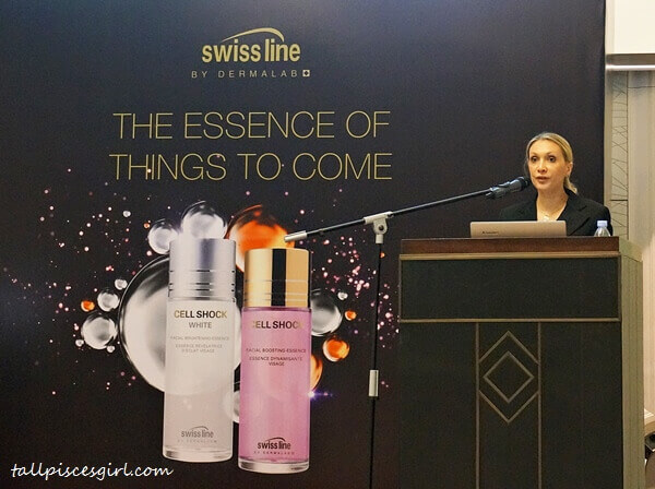 Product presentation by Ms. Barbara Iacobucci, International Training Manager of Swiss line