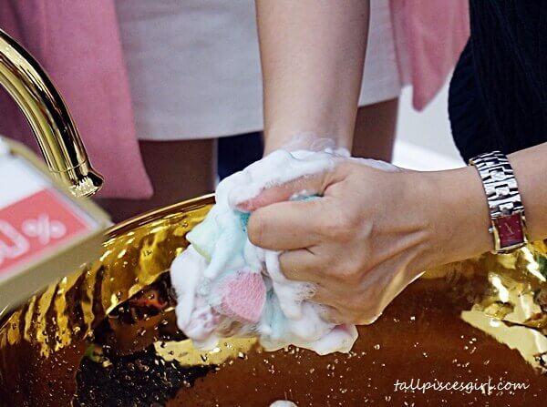 Fine foams created using Daily Beauty Tools Creamy Bubble Maker