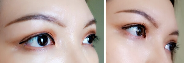 Before & After Using Tarte Mascara (Side View)
