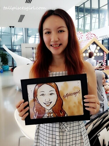 Coffee caricature by Vivian Lees Art @ Good Coffee Day 2.0