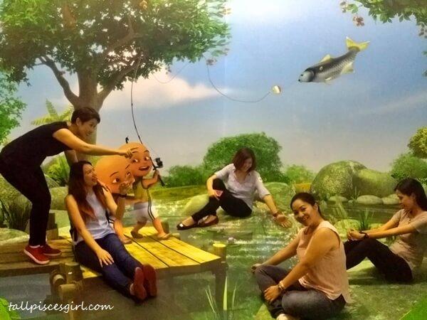 Upin & Ipin Kampung Durian Runtuh 3D Art