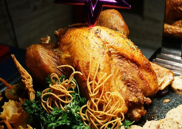 Cajun Roasted Whole Turkey with Chestnut Stuffing for One World Hotel Christmas Buffet