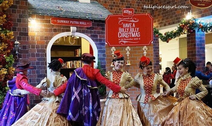 Mesmerizing Victorian dance performance during the launch of Holly Jolly Christmas