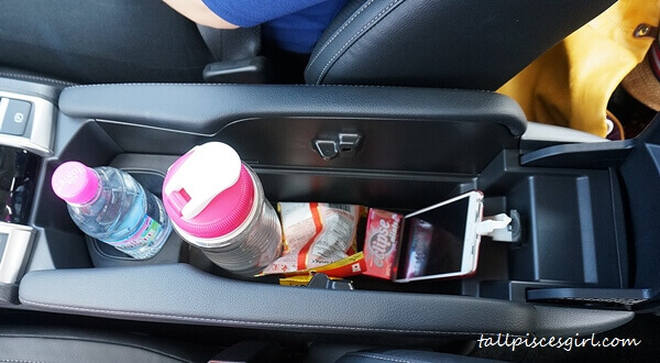 Wide beverage holder space
