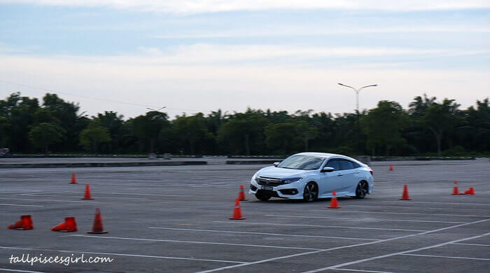 Honda Civic Vehicle Stability Assist (VSA) test