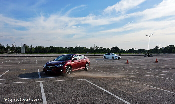Gymkhana session with Honda Civic @ Stadium Batu Kawan