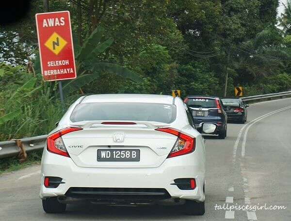Honda Civic fleet leaving Penang, the land of seafood