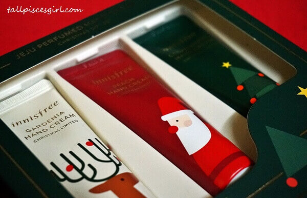 innisfree Jeju Perfumed Hand Cream Christmas Gift Set (Price: RM45 / 30ml x 3 tubes)
