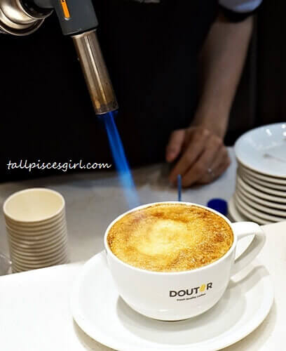 How Creme Brulee Latte was made at DOUTOR Coffee