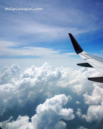 On the way to Bangkok in AirAsia flight