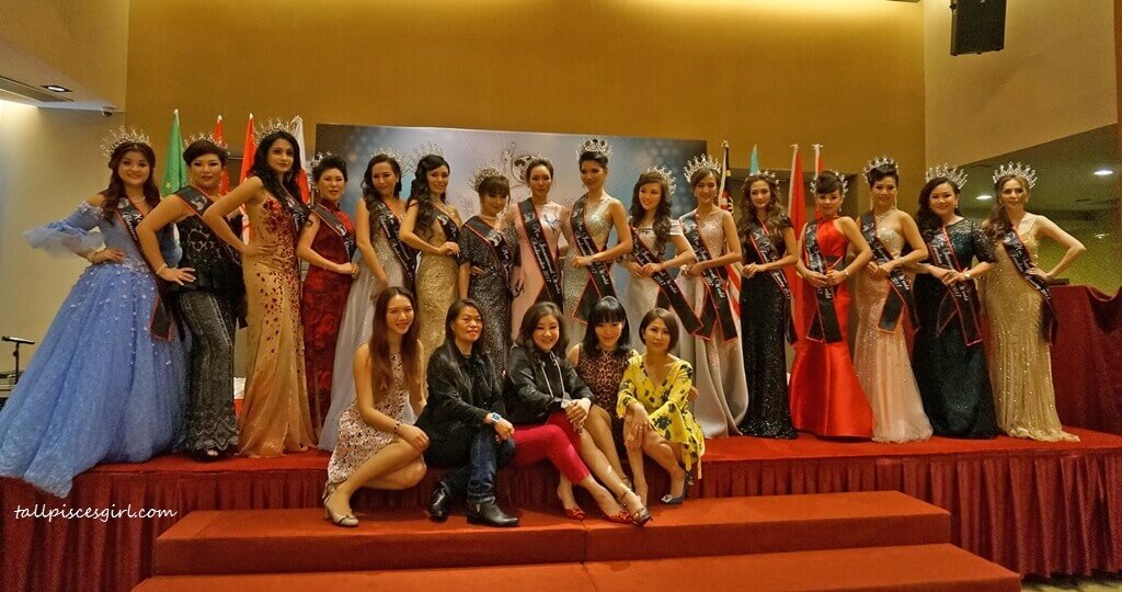 A group shot with Mrs International World Ambassadors