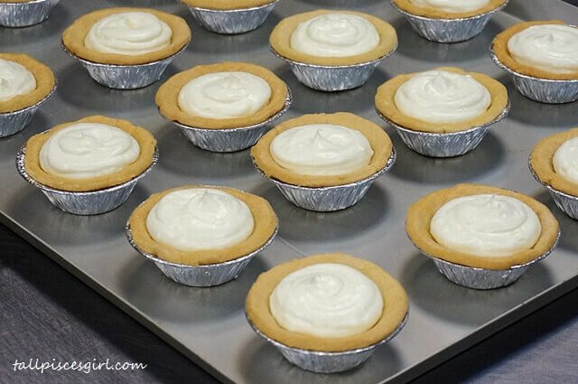 The making of Lava Salted Egg Cheese Tart