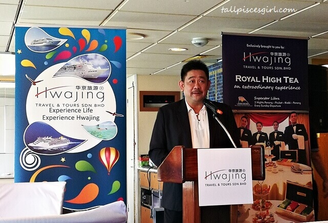 "Mr. Kenny Cheong Ken Lee, Managing Director of Hwajing Travel & Tours shared how ""Royal High Tea"" concept came about"