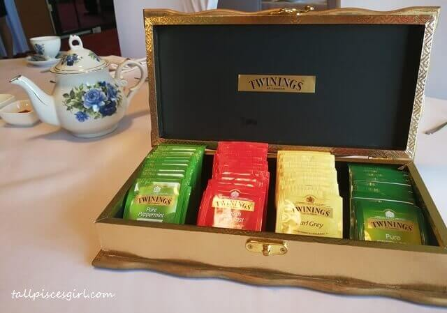 Twinings Tea Selection for Royal High Tea by Hwajing Travel & Tours