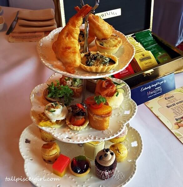 3-tiers of afternoon tea pastries