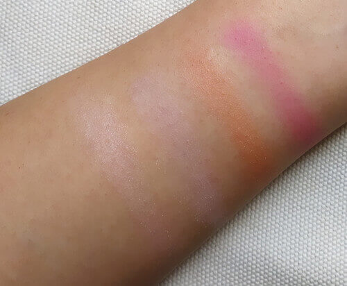 Swatches of Mary Kay Eye Palette - Sunlight