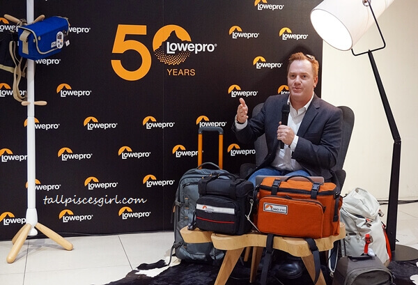 Product Development & Manufacturing Senior Director of Lowepro, Mr. Kevin Crandall