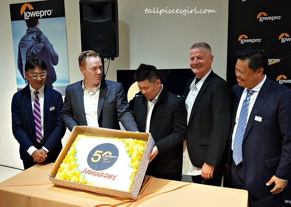 A special cake was delivered to celebrate Lowepro's 50th Anniversary!