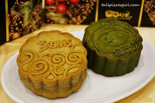 BMS Organics Mooncake (L-R: Mixed Nuts Delight and Matcha Red Bean)