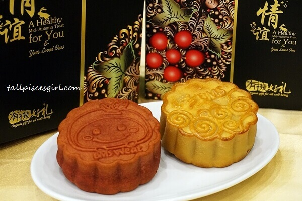 BMS Organics Mooncake (L-R: Red Bean Walnut and Japanese Tangerine)
