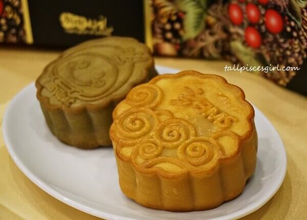 BMS Organics Mooncake (L-R: Purple Chinese Yam and Pure Lotus with Yolk)