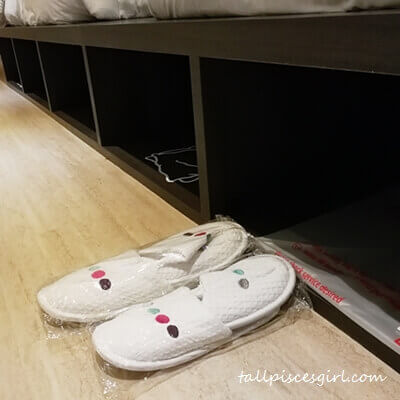 Raised platform provide more storage space. Don't forget to wear their comfy bedroom slippers!