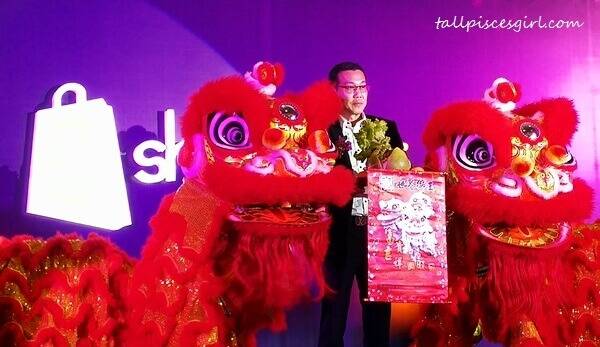 Lion Dance on the auspicious date to congratulate Mr. Tan Chin Hwa, Director of ShopPlus