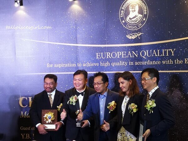 CK East Group receives The European Quality Award from Anna Gorobets, Executive Secretary to the Committee