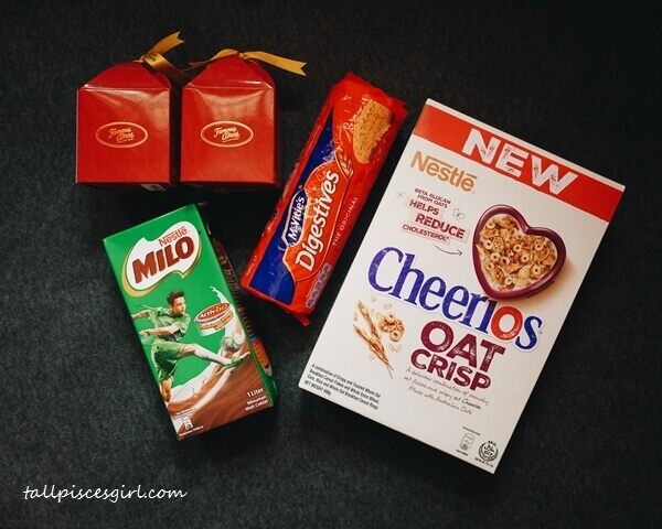 IPC Breakfast Treat: Cheerios, McVitie's Digestives, Milo, Famous Amos Cookies!