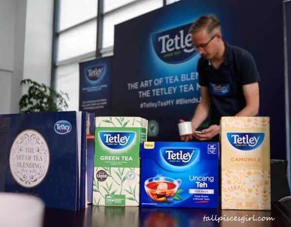 Sebastian Michaelis, Tetley Tea Master is preparing tea for his guests