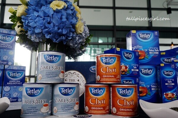 Black tea, Earl Grey and Chai are among the Tetley tea selections available in Malaysia
