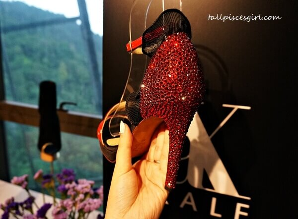 Crystal embellishments on heels elevates your style