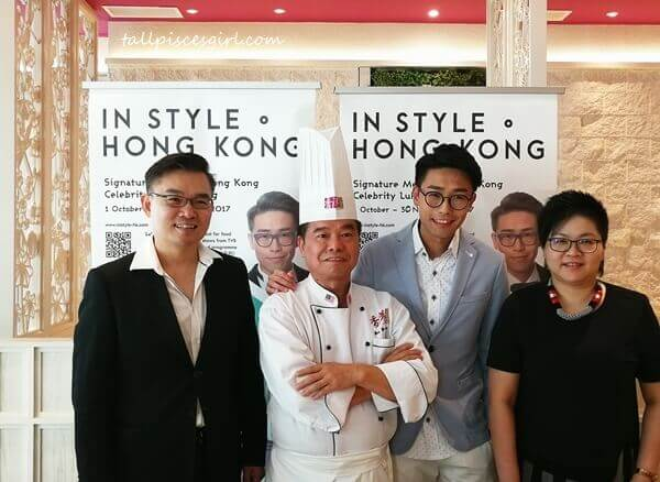 Luk Ho Ming 陸浩明 with CEO of Dragon-i, Datuk Henry Yip, Chef Yim Yu King and Director of HKTDC Malaysia, Ms. Hoh Jee Eng