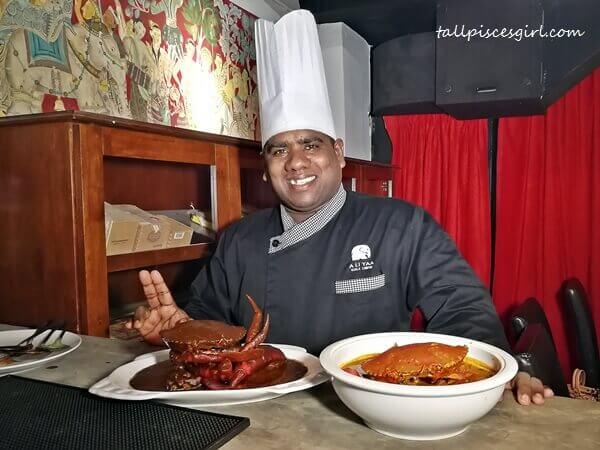 Food at A Li Yaa were prepared by Chef Shiva from Sri Lanka