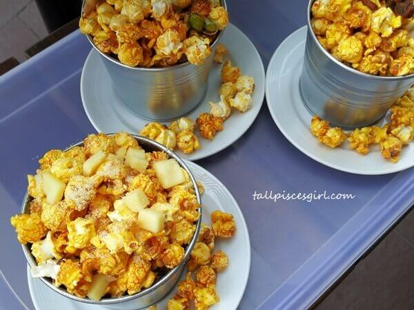 Signature Premium Popcorn and Nuts (Oink Oink, Cheesy Bomb, Naughty-nutty, Tamari and Maple Roasted Almond)