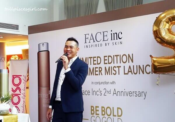 Mr. Wilson Goh, Managing Director of The Face Inc