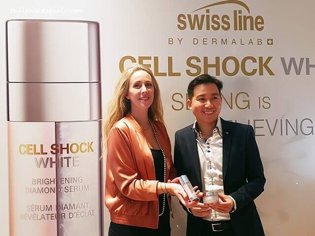 Ms. Barbara Cortiello, International Training Development Manager of Swiss line & Mr. Yip Wei Yin, Chief Operating Officer of Cheerful Marketing Sdn. Bhd.
