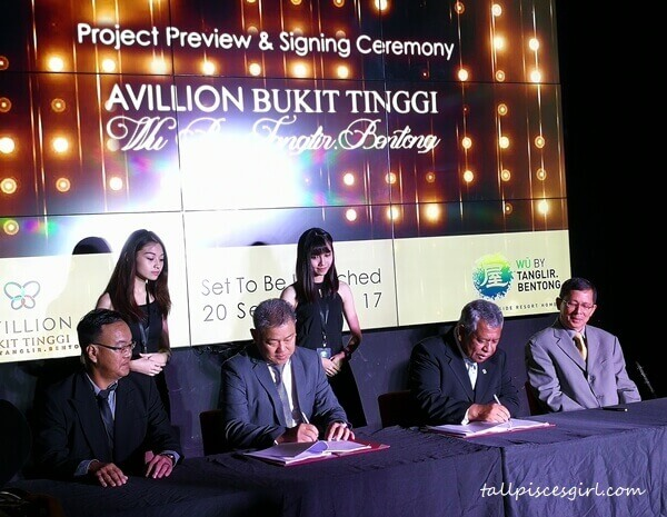 Tanglir Hospitality signs Hotel Management Agreement with Avillion Hotel Group as hotel manager for WU By Tanglir.Bentong