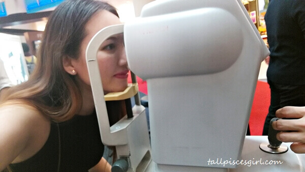 Getting my eyes checked
