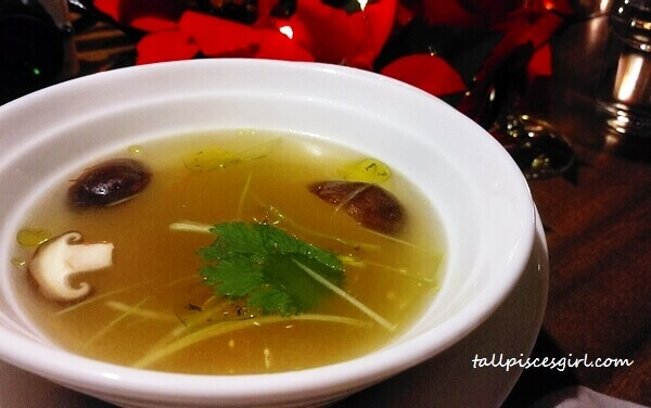 Clear Soup with Truffle Oil