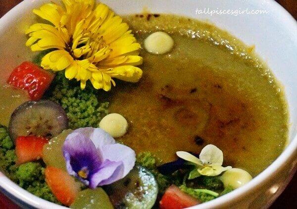 Dessert: Hojicha Creme Brulee