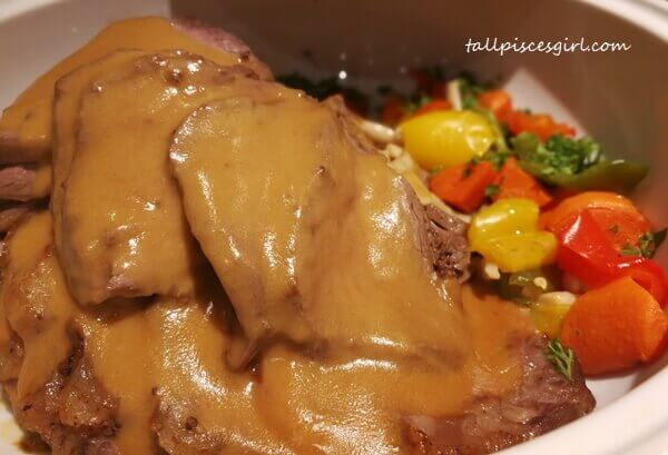 Beef Mignon Steak with Dijon Mustard Sauce