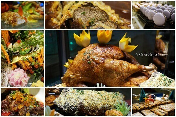 Compilation of Christmas Buffet food @ Cinnamon Coffee House, One World Hotel