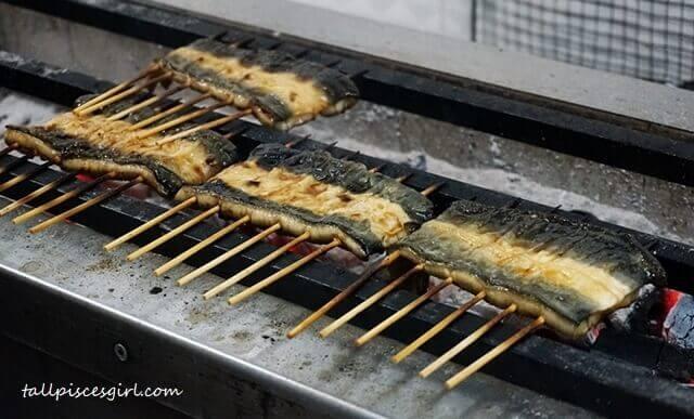 Unagi grilling at Makoto Japanese Cuisine