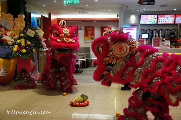 Lion Dance on grand opening day
